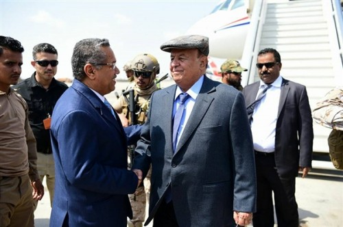 Hadi arrives in Aden after one-week visit to Saudi Arabia