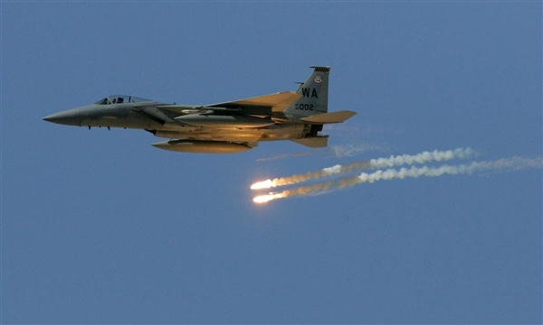 Arab Coalition bombs weapon depots in Dhamar