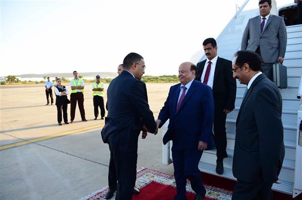 الرئيس هادي يصل المغرب ولقاء مرتقب مع الملك سلمان