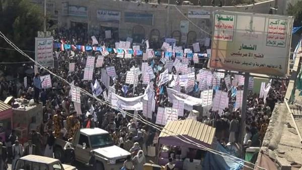 الحوثيون يفضون مظاهرة لأنصار المخلوع بقوة السلاح في حجة