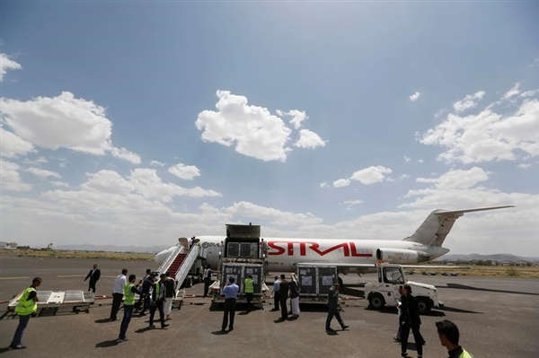 Humanitarian flights to Sana'a Airport resume after two weeks of closure