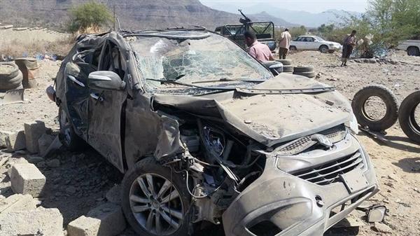 نجاة نائب وزير الداخلية ومقتل مصور قناة بلقيس وسبعة آخرين  بقصف حوثي بتعز