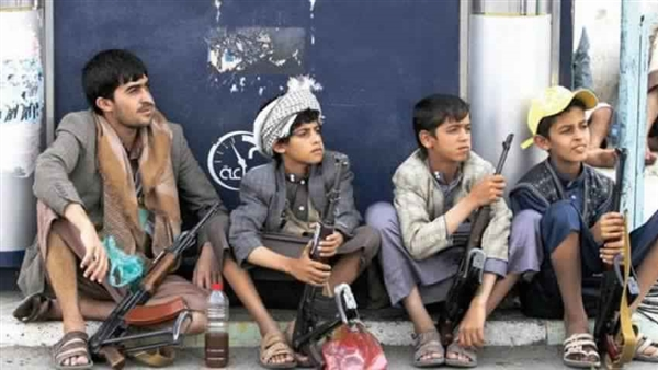 Houthis recruit hundreds of school boys to a Sana'a military camp
