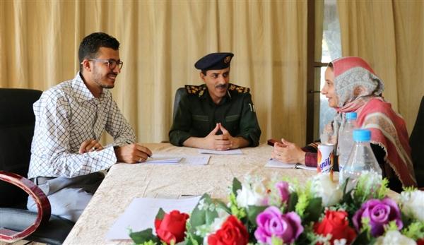 مدير عام شرطة مأرب يلتقي وفد منظمة