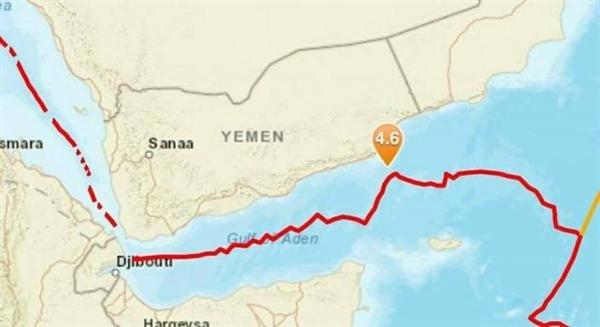 زلزال بحري بقوة 4.8 ريختر في عمق خليج عدن قبالة محافظتي حضرموت والمهرة