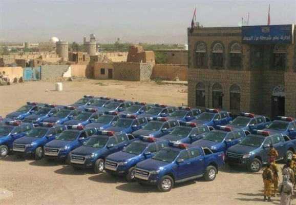KSA supports Aljawf police with 30 patrol vehicles