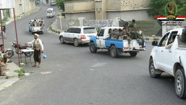 شرطة تعز تعلن القبض على 10 متهمين بتنفيذ عمليات اغتيالات بالمدينة