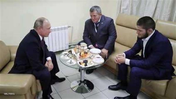 بوتن في لقاء مع نورمحمدوف صاحب الفوز