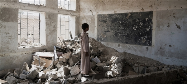 Approximately 2600 schools were destroyed by Yemen's war