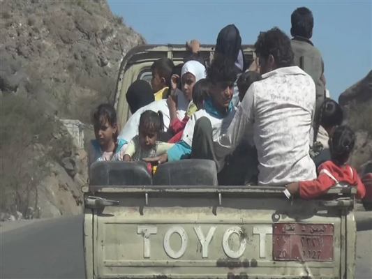 Hundreds of families displaced from Dhala'a province