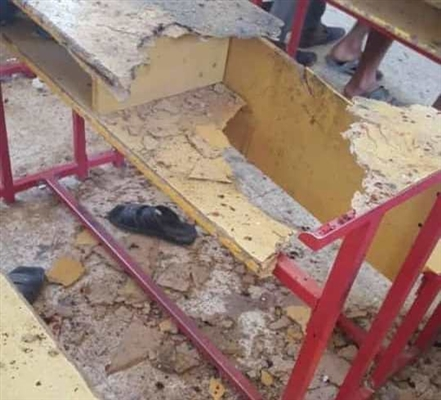 Houthi projectile kills, wounds 18 children inside school