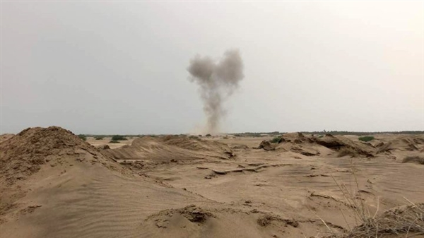 إسقاط طائرة حوثية مُسيرة شرق صعدة