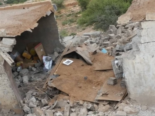 Civilians' houses damaged by Houthis' attacks in Hodeida