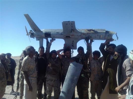 إسقاط طائرة حوثية مسيرة بالقرب من حقول صافر بمأرب