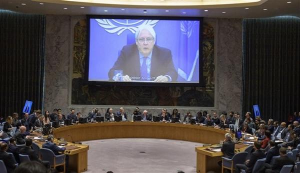 غريفيث يشتكي لمجلس الأمن من فرض قيود على حركة البعثة الأممية في الحديدة