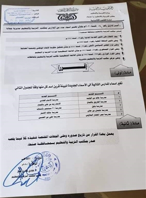 Houthis change again names of public schools