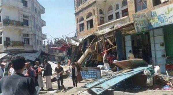 مليشيا الحوثي تجرف بسطات بمدينة يريم دون سابق إنذار