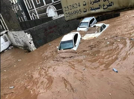Gov't report: Aden's rains affect over 1,000 displaced families