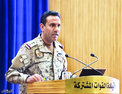 Coalition Spokesman: Houthis continue targeting civilians