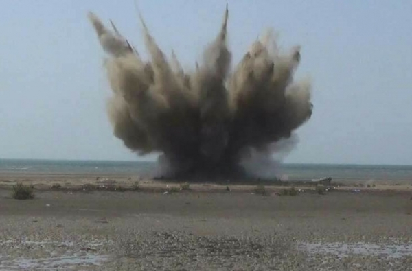 Five waterborne improvised explosive devices destroyed in the Red Sea